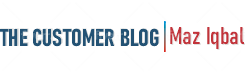 Logo for The Customer Blog written by Maz Iqbal